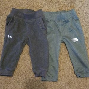 Baby Under Armour and Northface sweatpants